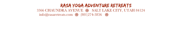 RASA Yoga Adventure Retreats     